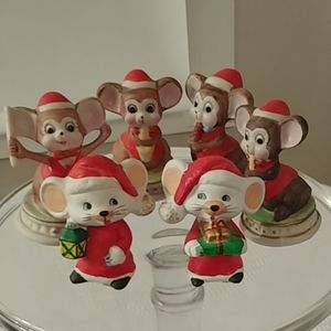 VINTAGE CHRISTMAS ORNAMENTS set of 6